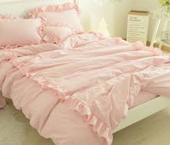 blush linen duvet cover.  Cover Blush Pink Linen Duvet Cover With 2 Rows Of Ruffles Stunning Style On R