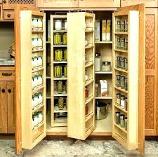 Oak Pantry Cabinet Food Home Depot Wide  Cupboard With Spice Solid Wood 192