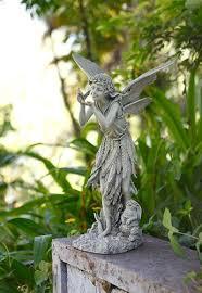 garden fairy statues. Fairy With Bird Garden Statue Statues A