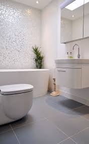 same tile in different colors and sizes on walls and floors (bigger tiles  for us. Modern Bathroom ...