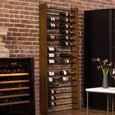 wood metal wine rack. Modren Rack Home U003e Corsica Vertical Wood And Metal Wine Rack With H