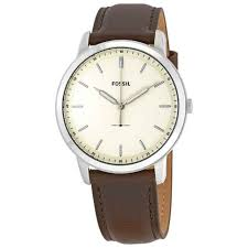 fossil men s 44mm the minimalist three hand brown leather watch fs5439