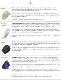 Crystal Healing Meanings And Metaphysical Properties B