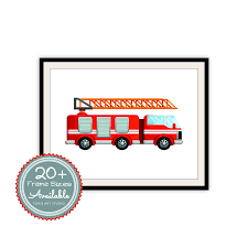 Fire Engine Design Studio Red Fire Truck Rescue Engine Transportation Safety Fire
