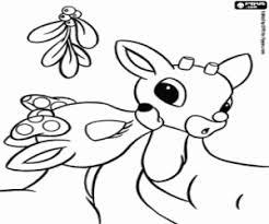 Kleurplaat De Kus Van Clarice Aan Rudolf De Rendieren Kleurplaten