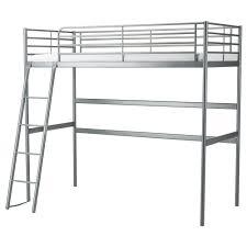 "SV""RTA Loft bed frame Silver colour 90x200 cm IKEA"