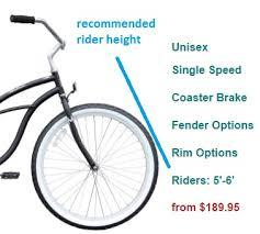 Cruiser Bike Size Chart