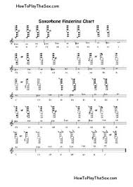 Tenor Sax Finger Chart Printable Saxophone Fingering Chart By Saxophonestuff Teachers Pay