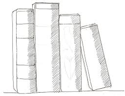 a drawing of a book how to draw books in shelf which can be read