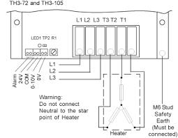 3 phase isolator switch wiring diagram Delta 3 Phase Heater Wiring Diagram th3 72 230vac three phase thyristor 72kw th3 72 480 Volt 3 Phase Wiring