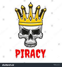 Stock Vektory Na Téma Dreadful Cartoon Skull Golden King Crown Bez