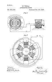 Nikola tesla u s patent 555 190 alternating motor tesla universe