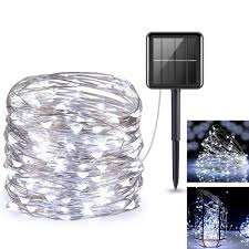 Solar Led Copper Wire Lights Solar Powered String Lights 200 Led Copper Wire Lighting