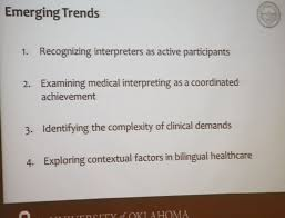 emerging trends in bilingual health education interpreting in  emerging trends in bilingual health education
