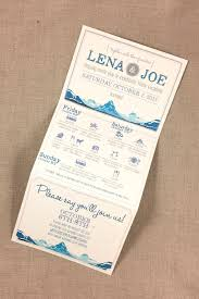 Rustic Iceland Mountain Wedding Trifold Invitation With Hand Drawn Map And Wedding Weekend Timeline Online Rsvp