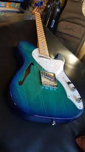 Warmoth Color Chart Warmoth Thinline Telecaster Blue Burst Finish On A Swamp