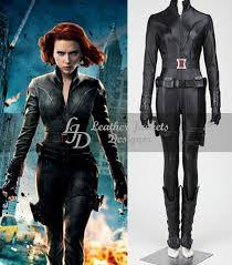 the avengers scarlett johansson as natasha womens leather costume demo