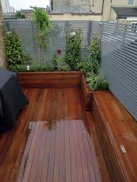 Small Picture roof terrace deck with raised beds clapham Built in bench