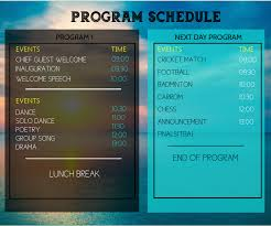 Design Schedule Template Team Schedule Template Postermywall