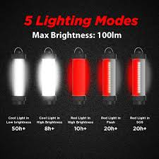 Red Light Camping Lantern Outxe Ip68 Waterproof Mini Led Camping Lantern 100lm 5 Modes