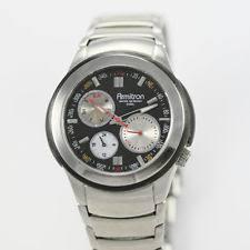 armitron sports mens watch wr 165 armitron men s 3 eye silver day date black wr ss easy quartz sport watch