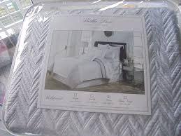 beautiful grey bella lux fine linens bedspread king size new