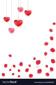 Valentines Day Greeting Card Design In 3d Style