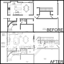home addition in out or up hallway removal blueprint