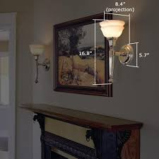 fireplace mantel lighting. larger scale carlton one light torch sconces fireplace mantel lighting