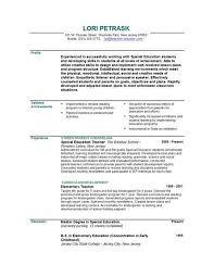 Format Of Teacher Resume Resume Example Teacher Education Resume Sample Wearefocusco Teacher 43