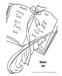 Santa Claus Coloring Pages Santa S List Of Naughty And Nice Coloring