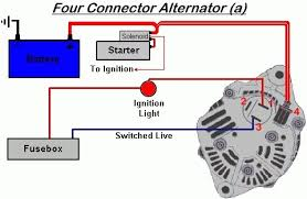 alternator to battery wiring diagram how to wire an alternator to charge a battery at Alternator Connections Diagram