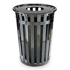 commercial outdoor trash cans. Metal Outdoor Trash Can Commercial Cans N