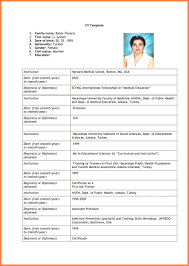 Resume Form Resumes Format For Fresher Word Free Download Pdf