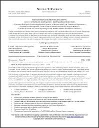 Restaurant Manager Resume Objective It Manager Resume Example General Manager Resume Sample Page 1