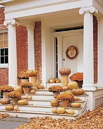 thanksgiving front door decorationsOutdoor Decorating With Pumpkins  Ideas Enticing Thanksgiving