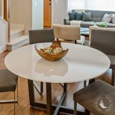 fab glasirror tempered round glass table