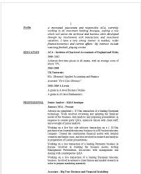 Private Equity Resume Analyst