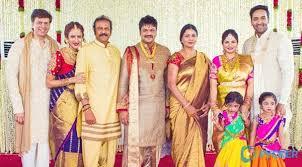 lakshmi manchu wedding. mohan babu with his second wife nirmala devi and entire family lakshmi manchu wedding
