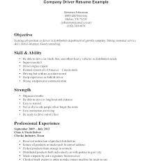 Unique Truck Driver Resume Sample And Gallery Of Template