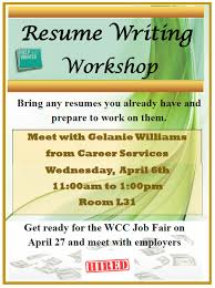 ... Vibrant Design Resume Writing Workshop 7 Resume Writing Workshop ...