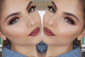 view in gallery burgundy lips and blended ochre eyes