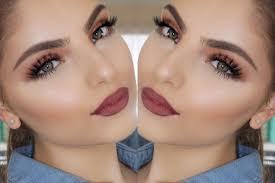2 burgundy lips and blended ochre eyes