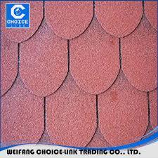 Asphalt Roll Siding Red Color Round Shape Roofing 3 Tab Asphalt