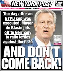 Image result for new york post de blasio cover