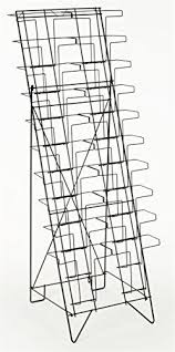 Black Wire Magazine Holder New Displays32go Tiered Black Wire Magazine Rack Free Standing Floor