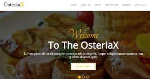 One Page Menu Template Free Template Tequila Restaurant Website One Page Best Templates