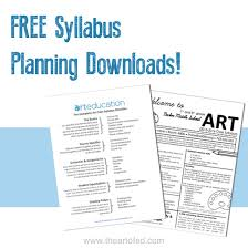 creating a syllabus art class syllabus for k 12 students the art of education