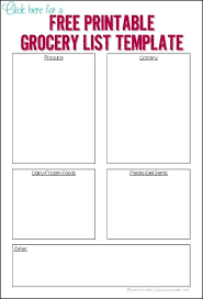 Free Printable Blank Grocery List Blank Shopping List Printable Template 344849563528 Free Shopping