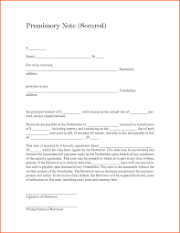 Promissory Note Word Template 033 Template Ideas Secured Promissory Note Microsoft